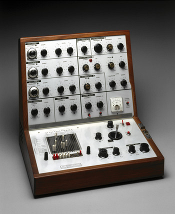 Analogue music synthesizer, 1970.