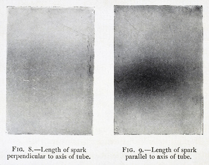 Plates taken from Blondlot's 'N Rays', 1905.