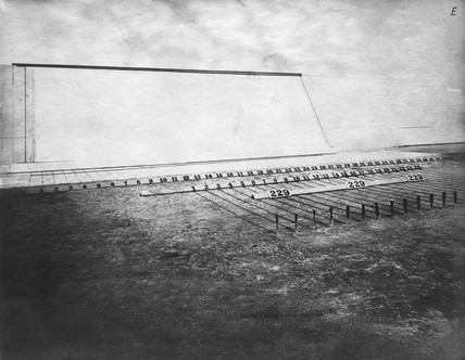General view of Muybridge's experimental track, c 1881.