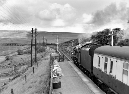 'The Sherwood Forester' steam locomotive, Cumbria, c 1950s.