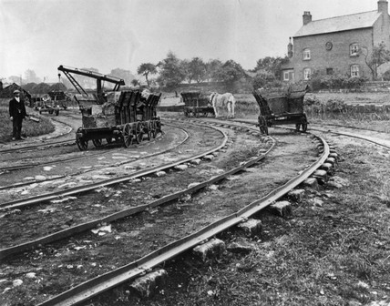Little Eaton Tramway, Derbyshire, c 1900.