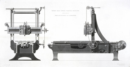 Whitworth's planing machine, patented 1839.