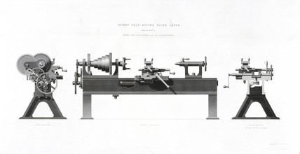 Whitworth's self-acting slide lathe, patented 1835.