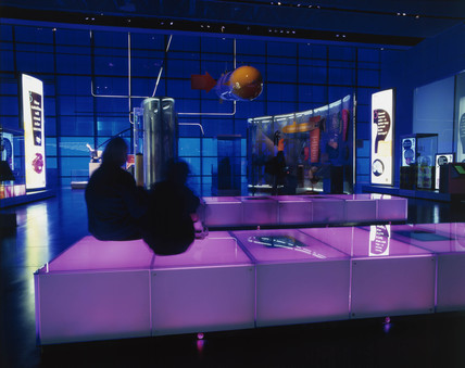Antenna area, ground floor of  Wellcome Wing, Science Museum, 2000.