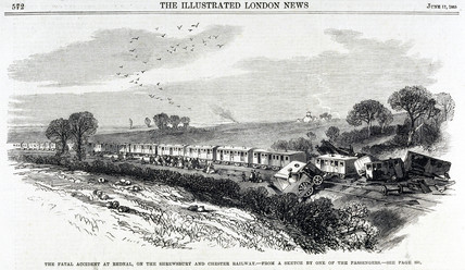 Fatal accident at Rednal on the Shrewsbury to Chester Railway, 1865.