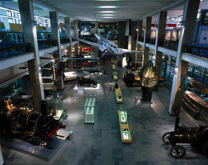 General view of the 'Making the Modern World' gallery, July 2000.
