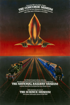 Visit the Science Museum on location', poster c.1980s.