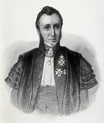 Gerrit Jan Mulder, Dutch chemist, c 1850.