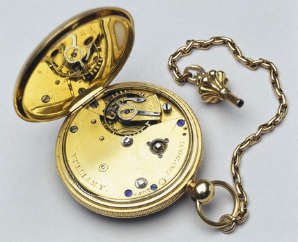 Gold open-faced lever pocket watch, 1847.