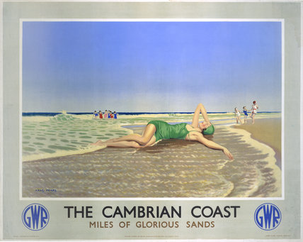 'The Cambrian Coast', GWR poster, 1938.
