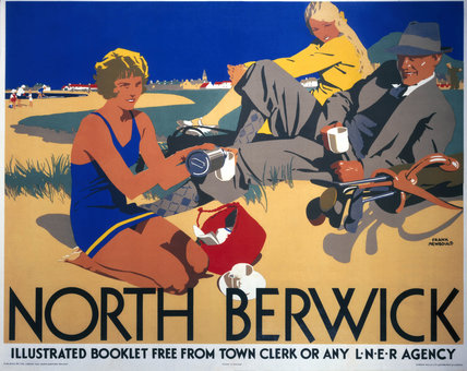 'North Berwick', LNER poster, 1923.