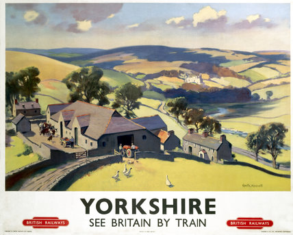 'Yorkshire', BR poster, 1950s.