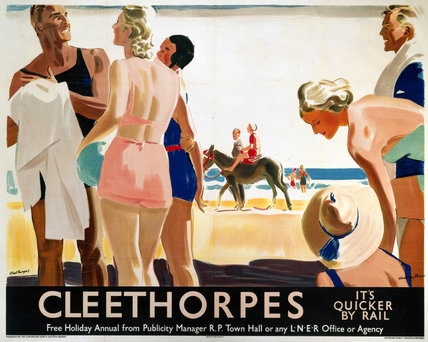 'Cleethorpes: It's Quicker by Rail', LNER poster, 1930.