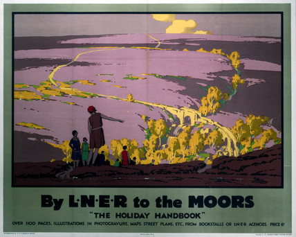 'By LNER to the Moors', LNER poster, 1923-1947.