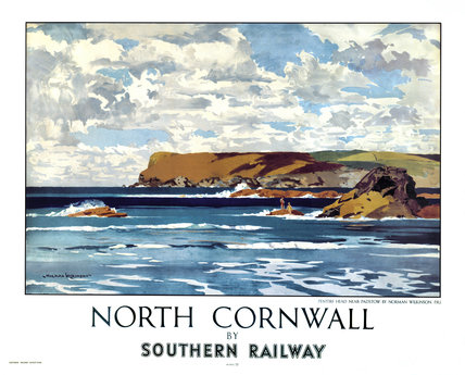 'North Cornwall by Southern Railway', SR poster.