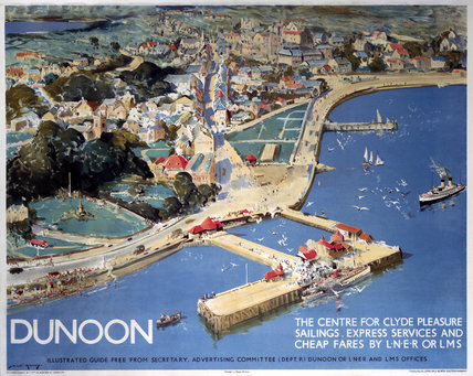 Dunoon, LNER poster, 1923-1947.