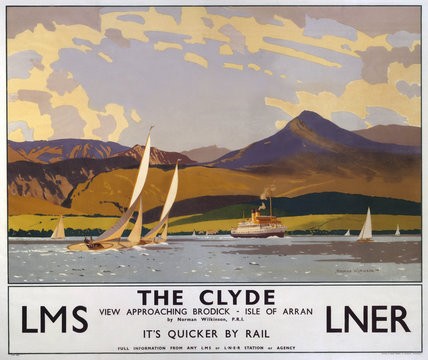 'The Clyde', LMS/LNER poster, 1923-1947.