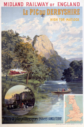 'High Tor, Matlock', Derbyshire Peaks, MR poster, c 1910s.