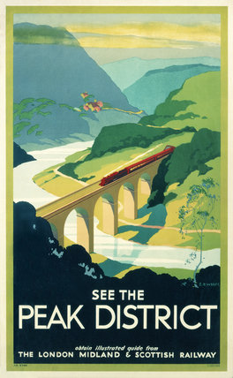 'See the Peak District', LMS poster, 1923-1947.