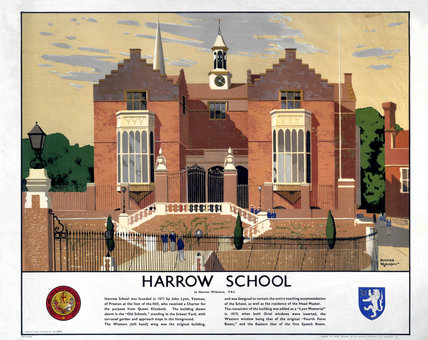 'Harrow School', LMS poster, 1923-1947.