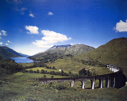 'Glenfinnan Viaduct', artwork for a BR poster, 1960.