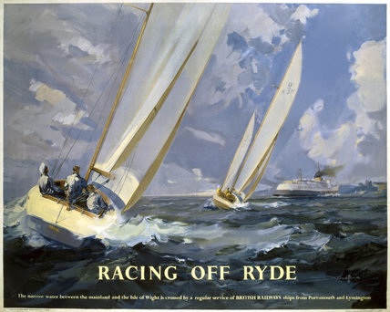 'Racing off Ryde', BR poster, 1948-1965.