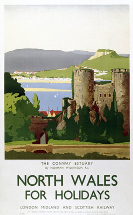 'The Conway Estuary. North Wales', LMS poster, 1923-1947.