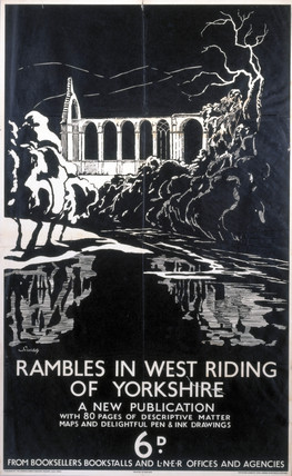 'Rambles in West Riding of Yorkshire', LNER poster, 1932.