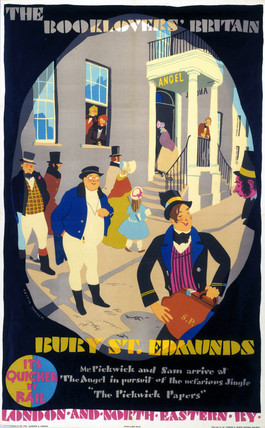 'The Booklovers Britain - Bury St Edmunds', LNER poster, 1933.