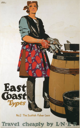 'The Scottish Fisher Las', LNER poster, 1931.