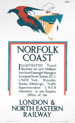 'Norfolk Coast - Illustrated Travel Booklets', LNER poster, 1926.