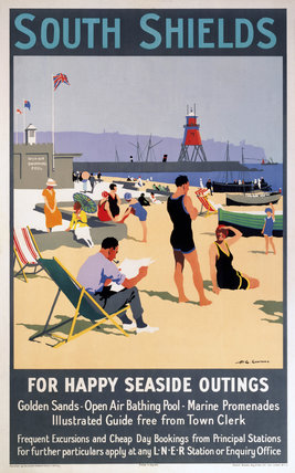 'South Shields', LNER poster, 1923-1947.