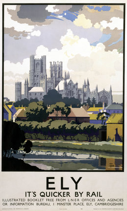 'Ely - It's Quicker by Rail', LNER poster, 1940.