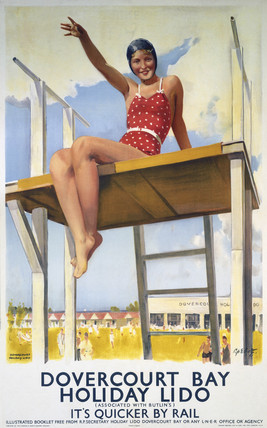 'Dovercourt Bay, Holiday Lido', LNER poster, 1941.