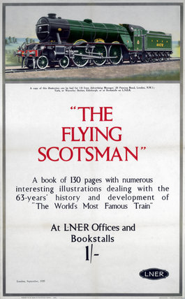 'The Flying Scotsman', LNER poster, 1925.