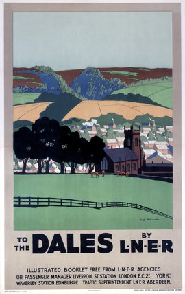 'To the Dales by LNER', LNER poster, 1923-1947.