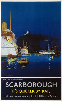 'Tunny Fleet at Scarborough', LNER poster, 1923-1947.