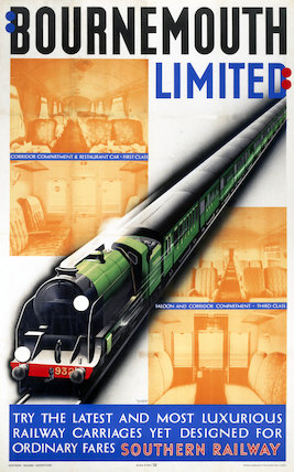 'Bournemouth Limited', SR poster, 1938.