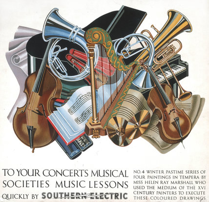'To your Concerts, Musical Societies, Musical Lessons', SR poster, 1930s.