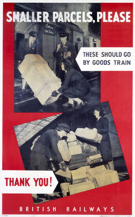 'Smaller Parcels, Please', BR poster, 1948-1965.