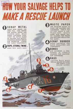 'How Your Salvage Helps To Make A Rescue Launch', LNER poster, 1939-1945.