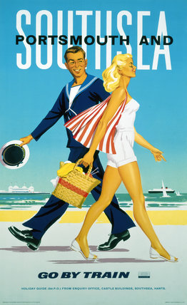 'Southsea and Portsmouth', BR poster, 1962.
