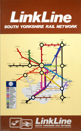 'Linkline - South Yorkshire Rail Network', BR (E) poster, 1977.