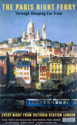 'The Paris Night Ferry', BR poster, 1957.