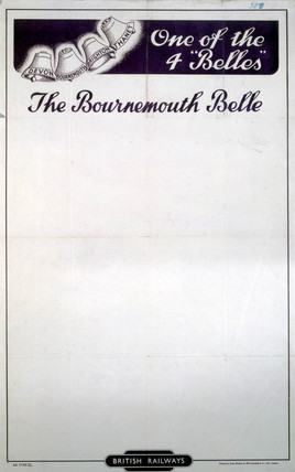 'The Bournemouth Belle', poster, 1948.