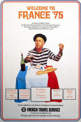 'Welcome to France '75', FTS and BR poster, 1975.