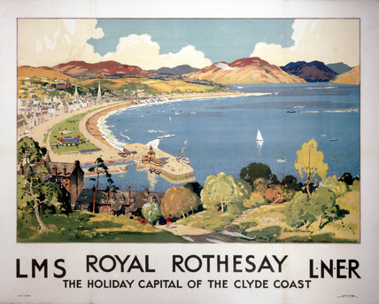 'Royal Rothesay, the Holiday Capital of the Clyde Coast', LMS/LNER poster, 1923-1947.