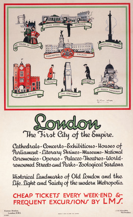 'London, The First City of the Empire', LMS poster, 1929.