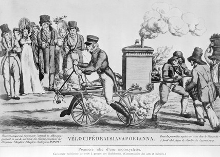Steam-powered Velocipede, 1818.