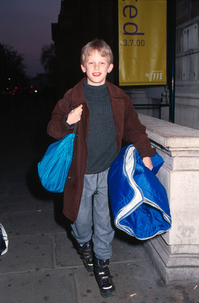 A child arriving at Science Night, 17 November 2000.